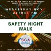 Student Government Association Emphasizes Student Safety with Safety Night Walk