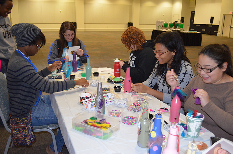 UWG Students Celebrate America Recycles Day