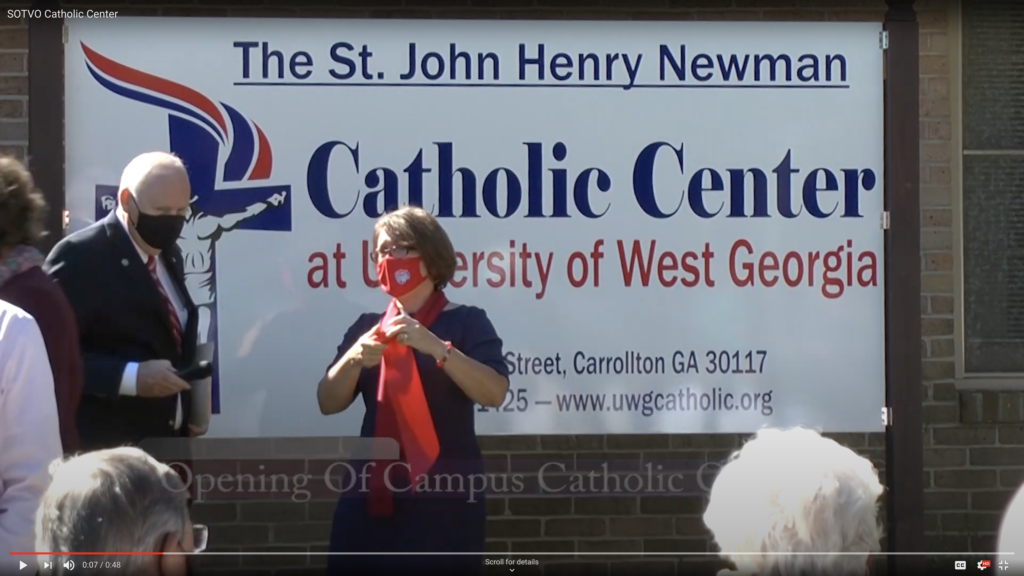 Campus Catholics Hold Dedication Ceremony for New Facility