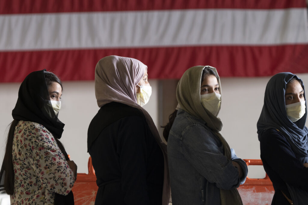 Women and children fear what life will look like under Taliban Rule
